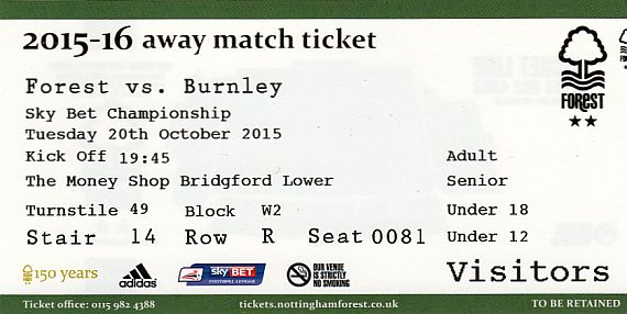 tickets1516 nottm forest