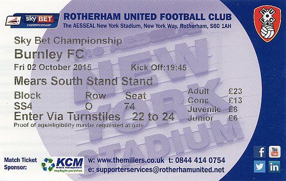 tickets1516 rotherham