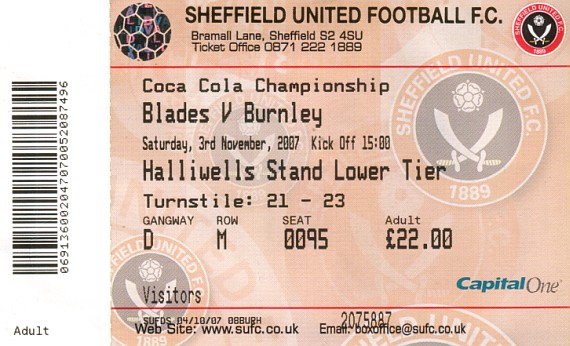 tickets0708 sheffield united