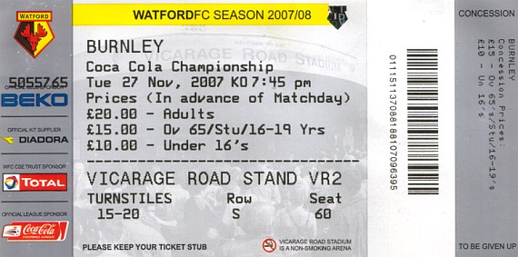 tickets0708 watford