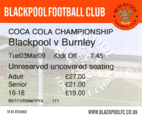 tickets0809 blackpool