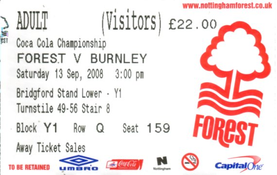 tickets0809 nottm forest