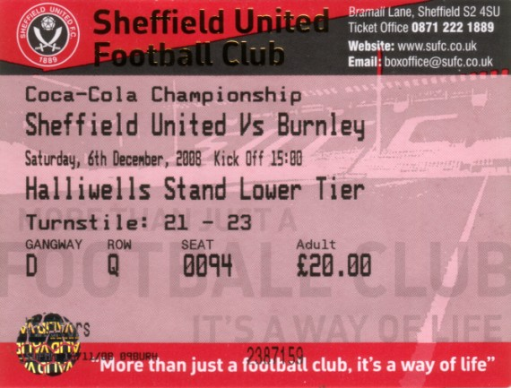 tickets0809 sheff utd