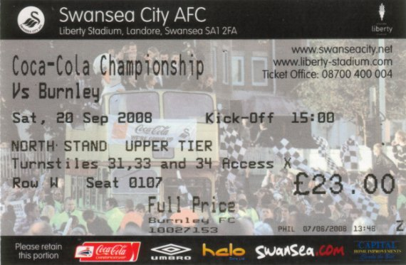 tickets0809 swansea