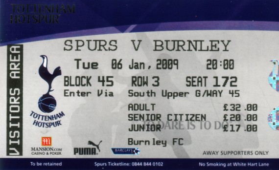 tickets0809 tottenhama