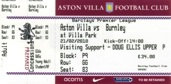 tickets0910 aston villa