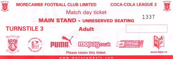 tickets0910 morecambe