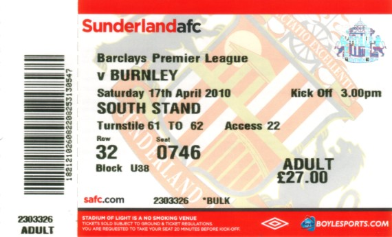 tickets0910 sunderland