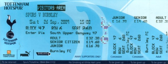 tickets0910 tottenham