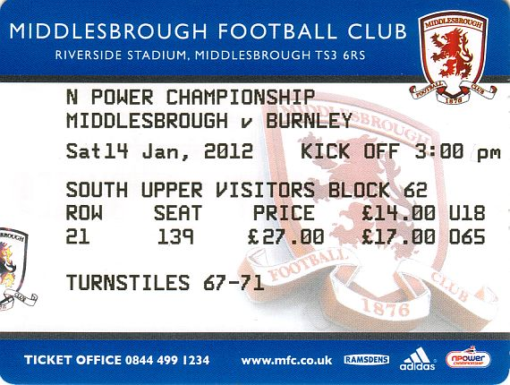 tickets1112 middlesbrough