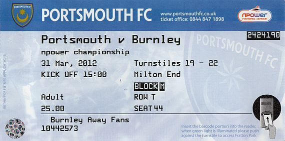 tickets1112 portsmouth
