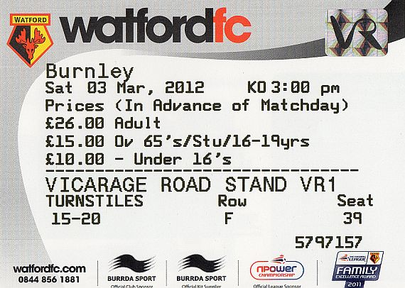 tickets1112 watford