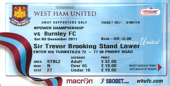 tickets1112 west ham
