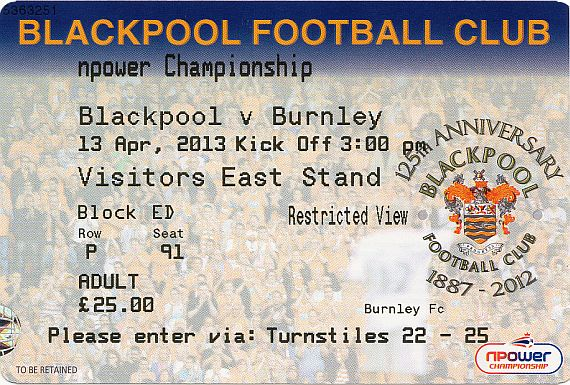tickets1213 blackpool