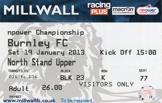 tickets1213 millwall