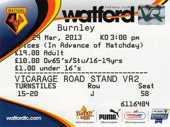 tickets1213 watford