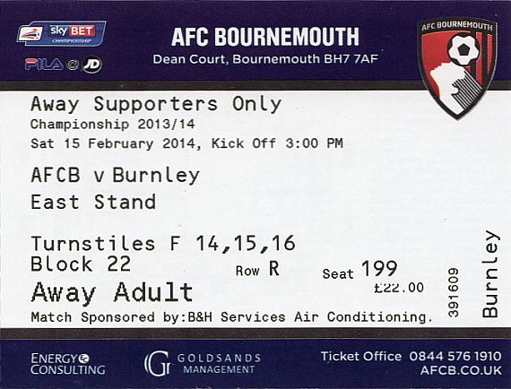 tickets1314 bournemouth