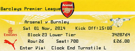 tickets1415 arsenal