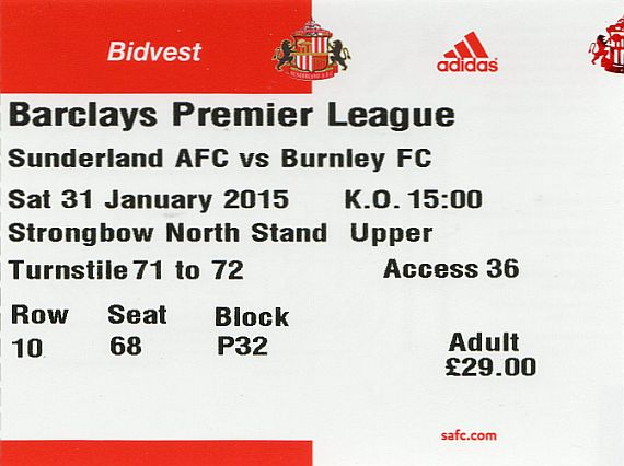 tickets1415 sunderland