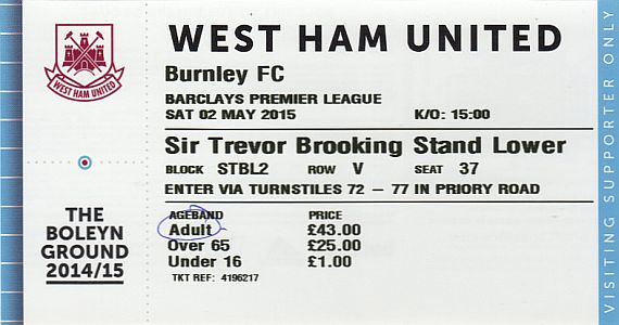 tickets1415 west ham