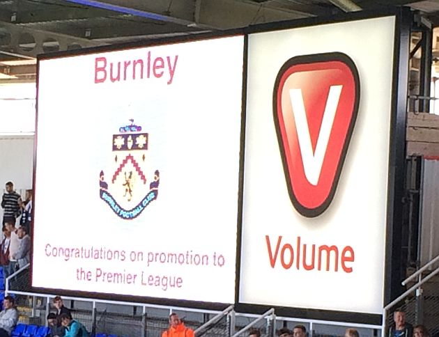 The big screen welcome from Reading