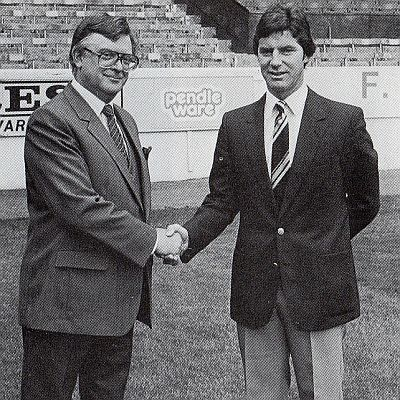 Frank Teasdale with his first managerial appointment Martin Buchan
