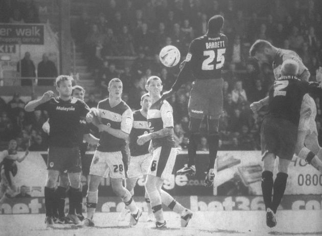 David Edgar heads home the late equalsier