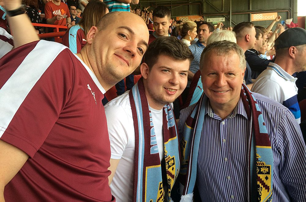 A couple of star struck Burnley fans with John B