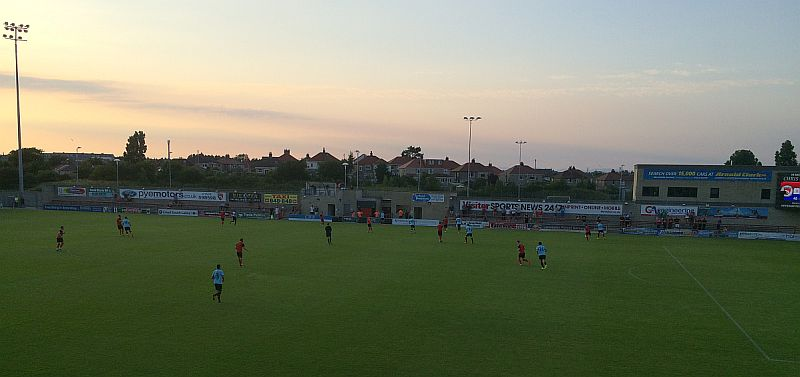 The sun setting on a hot night in Morecambe
