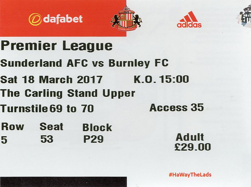 tickets1617 sunderland