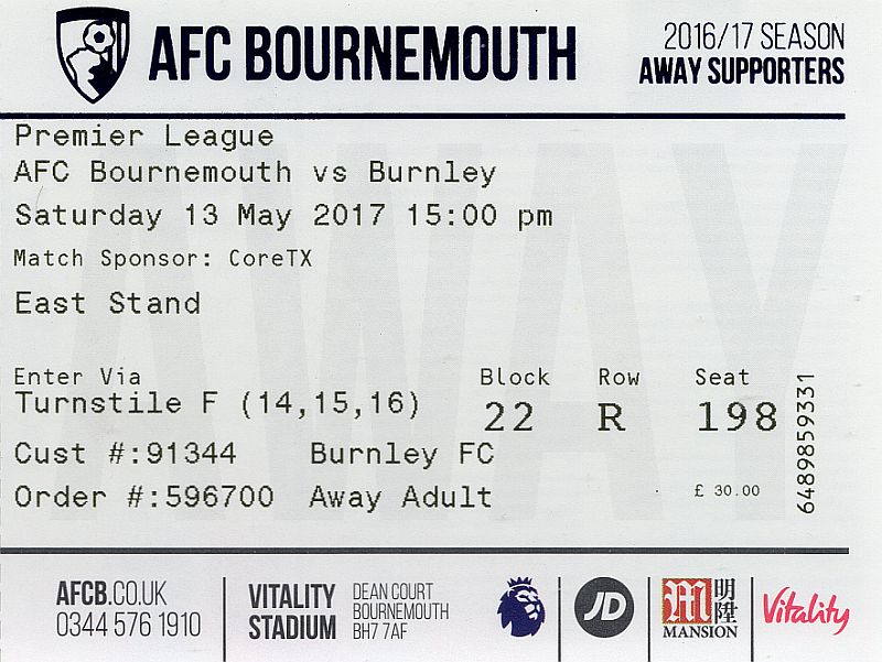 tickets1617 bournemouth