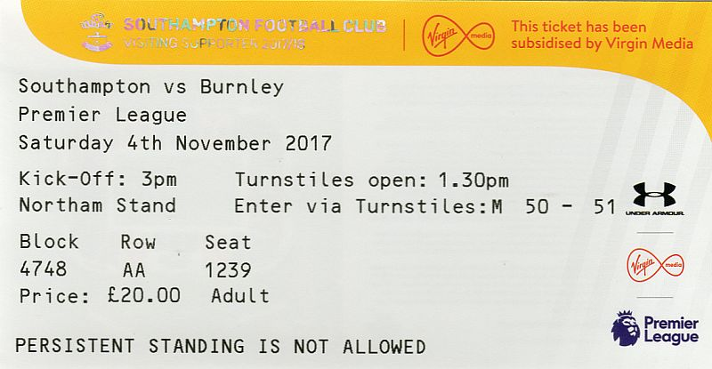 tickets1718 southampton