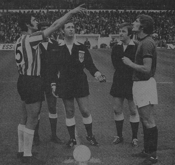 Martin Dobson captains us on our return to the First Division in 1973