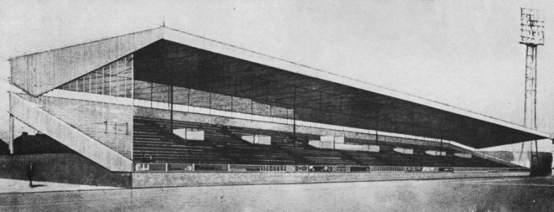 Artists impression of the new Brunshaw Road Stand