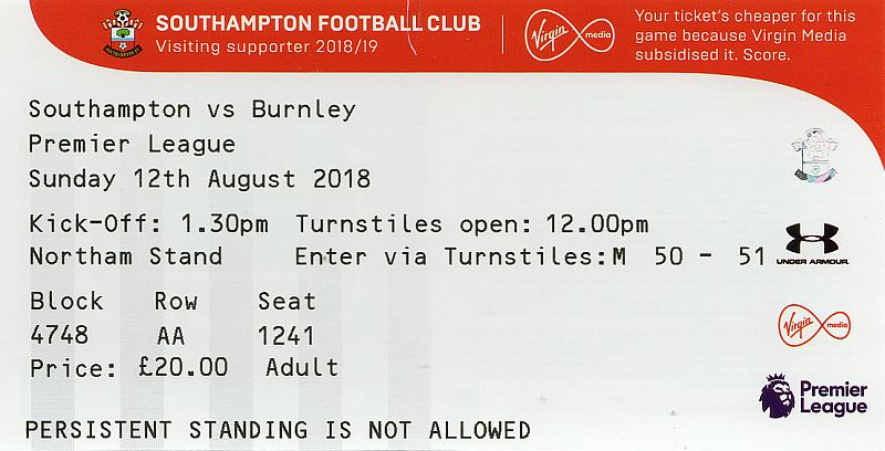 tickets1819 southampton