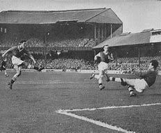 Scoring for Chelsea against Burnley in 1957
