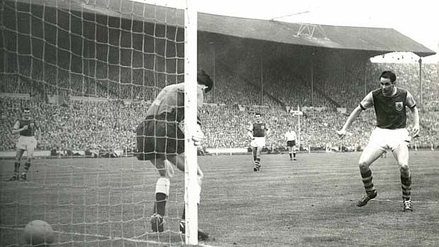 Scoring in the FA Cup Final at Wembley in 1962