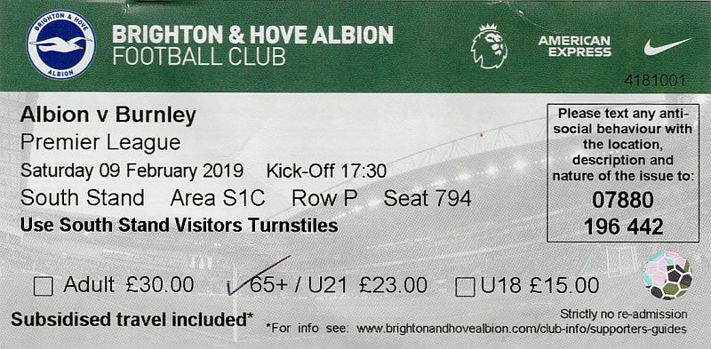 tickets1819 brighton