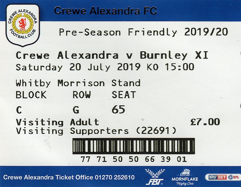 tickets1920 crewe