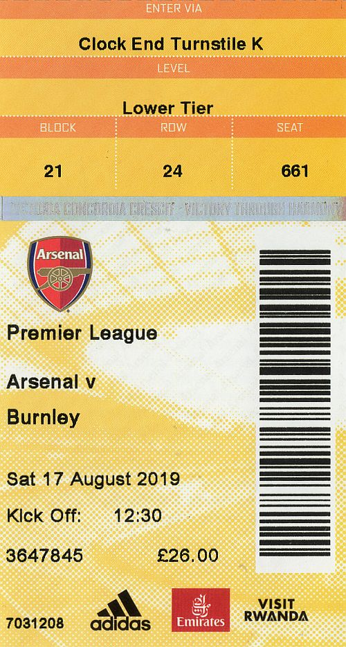 tickets1920 arsenal