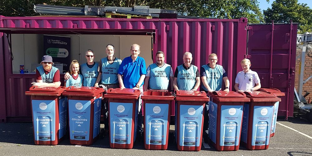 London Clarets manning the bins ahead of the Norwich game