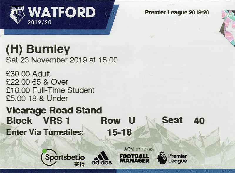 tickets1920 watford